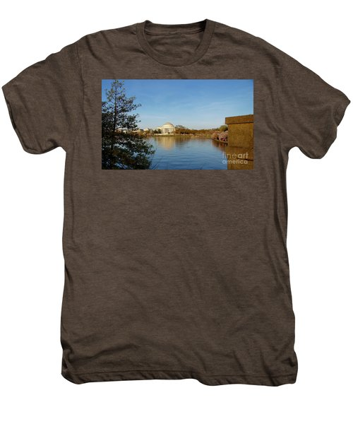 Tidal Basin And Jefferson Memorial Men's Premium T-Shirt by Megan Cohen