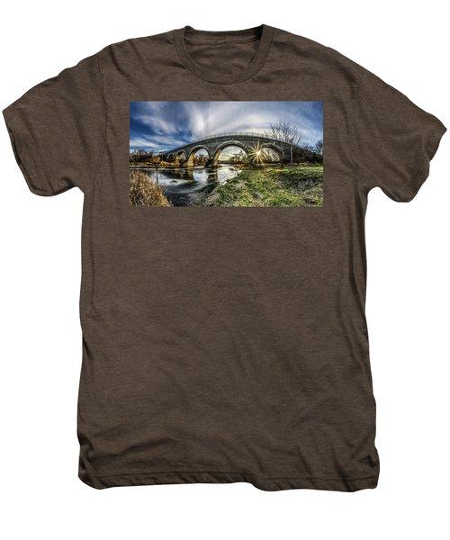 Tiffany Bridge Panorama Men's Premium T-Shirt by Randy Scherkenbach