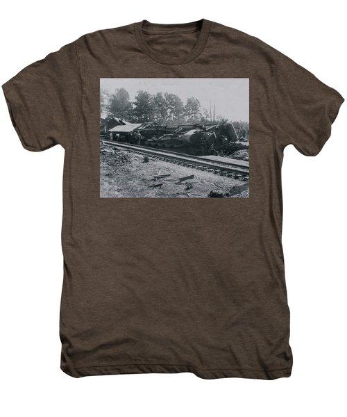 Train Derailment Men's Premium T-Shirt