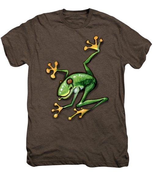Tree Frog Men's Premium T-Shirt by Kevin Middleton