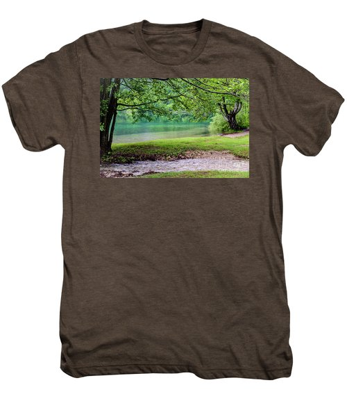 Turquoise Zen - Plitvice Lakes National Park, Croatia Men's Premium T-Shirt