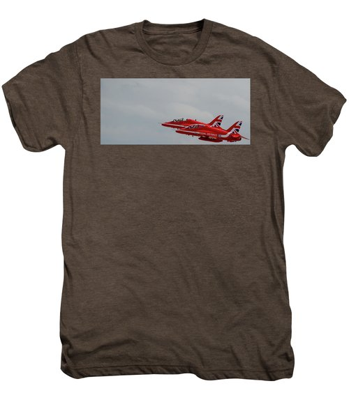 Twin Red Arrows Taking Off - Teesside Airshow 2016 Men's Premium T-Shirt