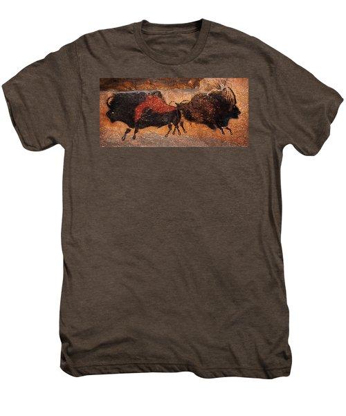 Two Bisons Running Men's Premium T-Shirt