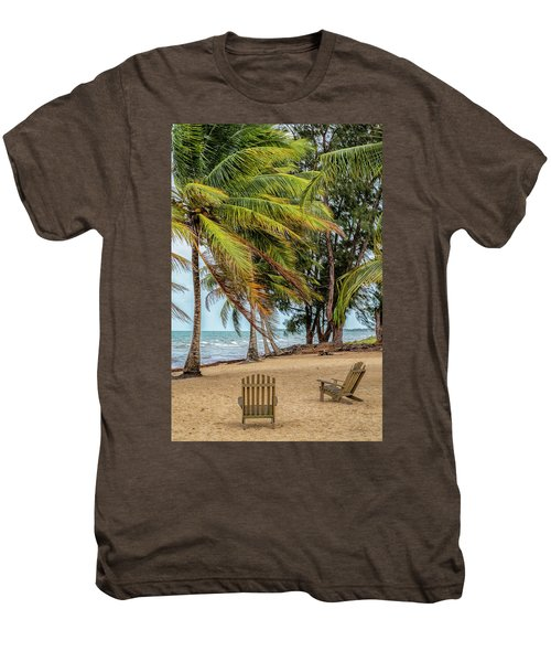 Two Chairs In Belize Men's Premium T-Shirt