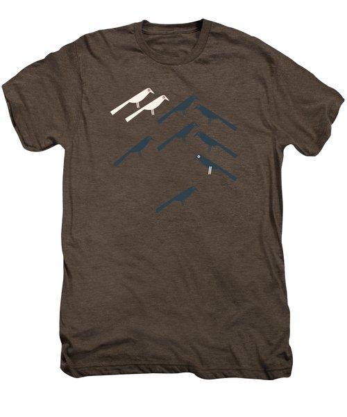 Two White Starlings Men's Premium T-Shirt by Gala Sofie Kuhn