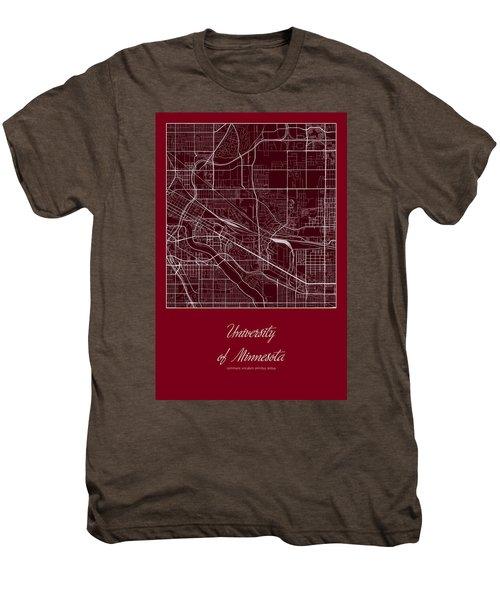 U Of M Street Map - University Of Minnesota Minneapolis Map Men's Premium T-Shirt