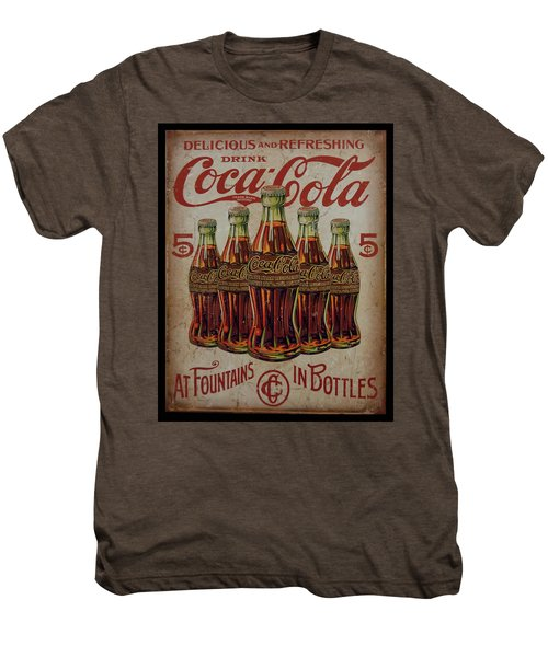 vintage Coca Cola sign Men's Premium T-Shirt