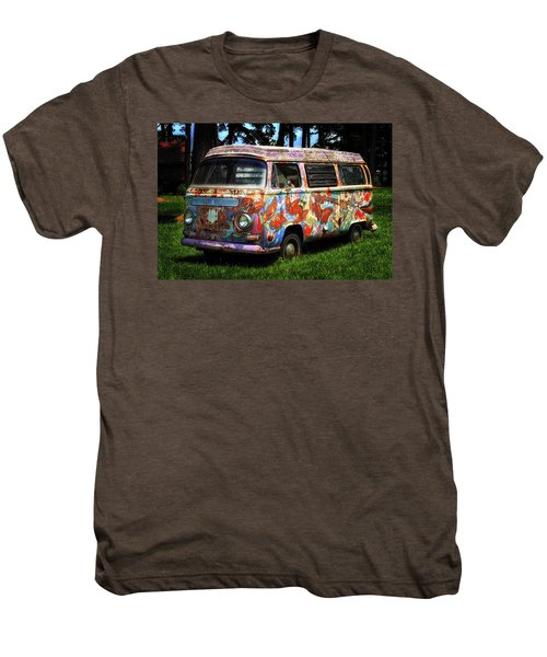 Men's Premium T-Shirt featuring the photograph Vw Psychedelic Microbus by Bill Swartwout Fine Art Photography