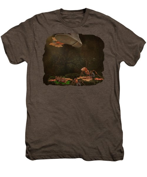 Waiting For The Other Shoe To Drop Men's Premium T-Shirt by Terry Fleckney