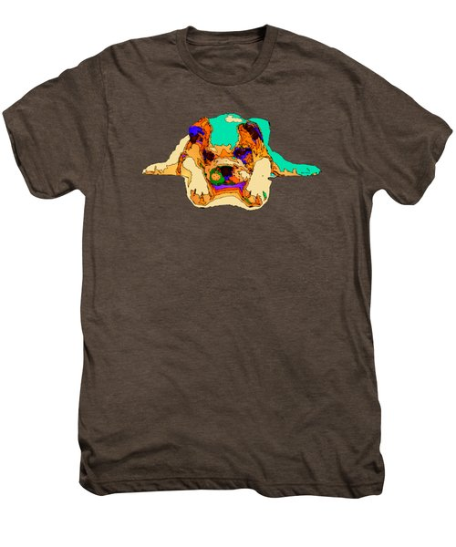 Waiting For You. Dog Series Men's Premium T-Shirt