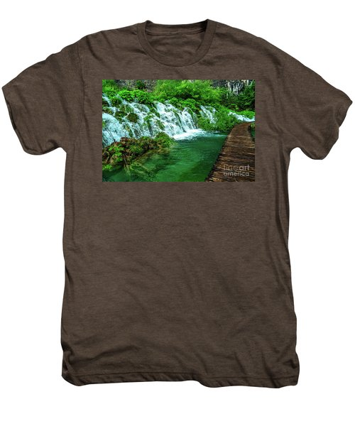 Walking Through Waterfalls - Plitvice Lakes National Park, Croatia Men's Premium T-Shirt