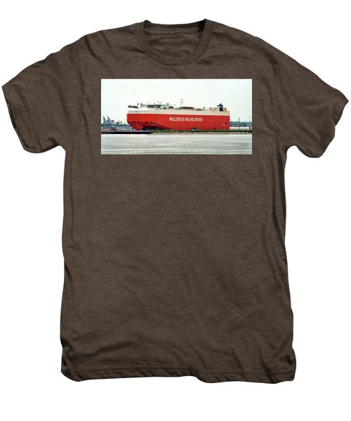 Men's Premium T-Shirt featuring the photograph Wallenius Wilhelmsen Tombarra 9319753 At Curtis Bay by Bill Swartwout Fine Art Photography