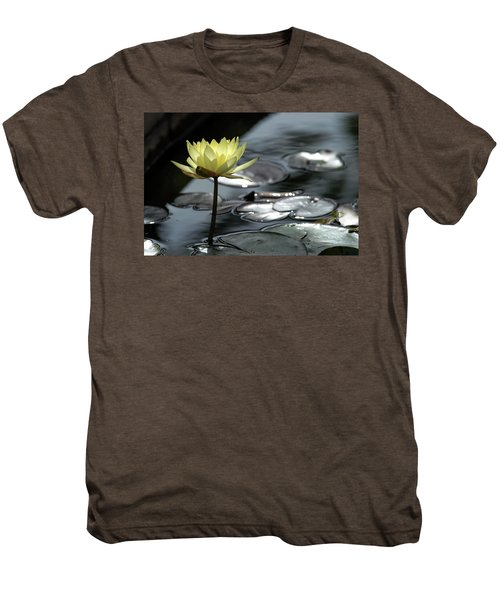 Water Lily And Silver Leaves Men's Premium T-Shirt
