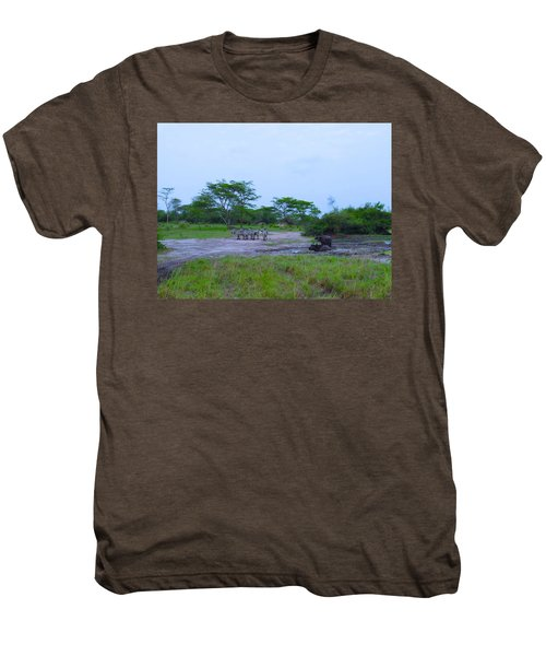 We Live Happily Side By Side Men's Premium T-Shirt