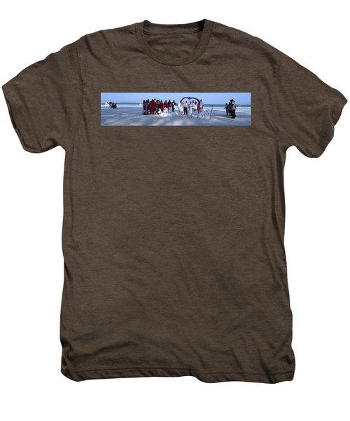 Wedding Complete Panoramic Kenya Beach Men's Premium T-Shirt