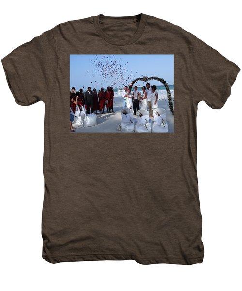 Wedding Party In Rose Petals Men's Premium T-Shirt