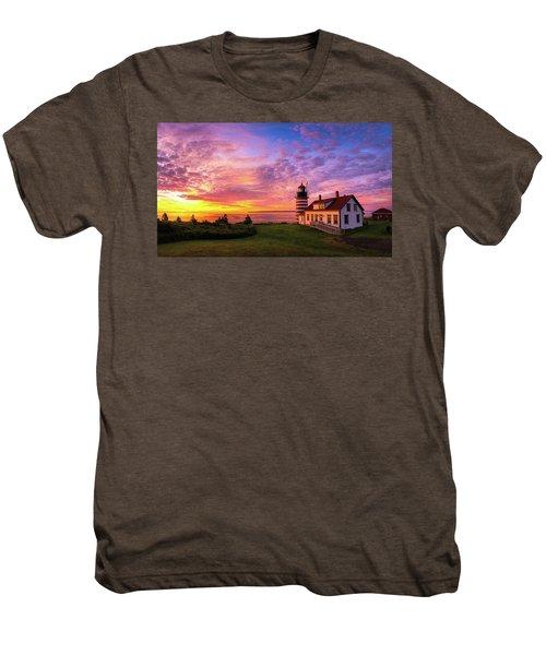 West Quoddy Head Light Men's Premium T-Shirt