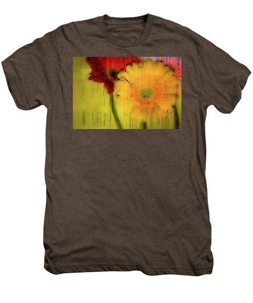 Wet Glass Flowers Men's Premium T-Shirt