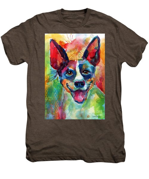 Whimsical Rat Terrier Dog Painting Men's Premium T-Shirt