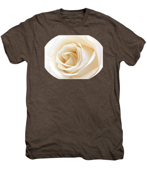 White Rose Heart Men's Premium T-Shirt