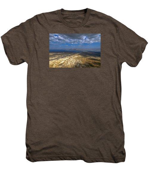 Wide View From Masada Men's Premium T-Shirt