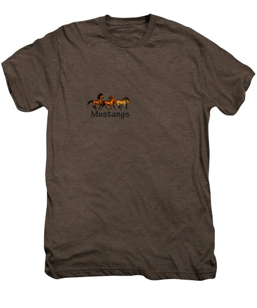 Wild Mustangs On The Run Men's Premium T-Shirt