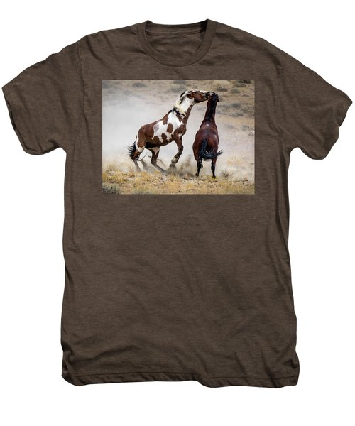 Wild Stallion Battle - Picasso And Dragon Men's Premium T-Shirt