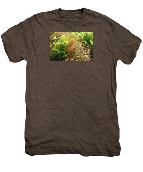Windblown Grasses Men's Premium T-Shirt by Nareeta Martin