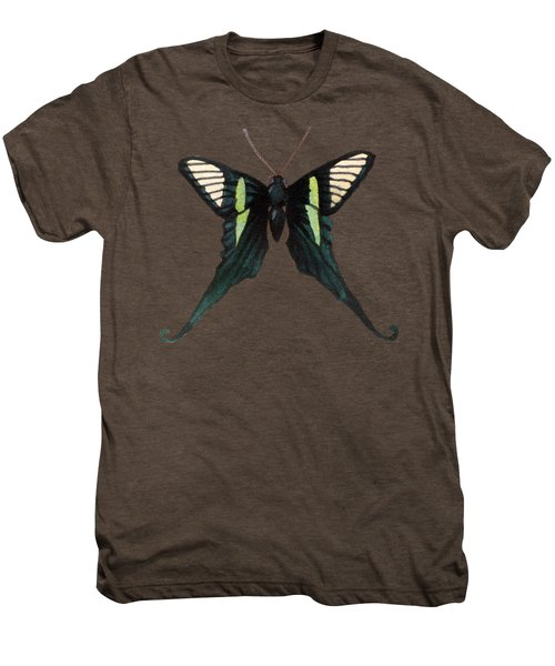 Winged Jewels 3, Watercolor Tropical Butterfly With Curled Wing Tips Men's Premium T-Shirt