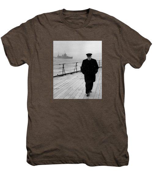 Winston Churchill At Sea Men's Premium T-Shirt