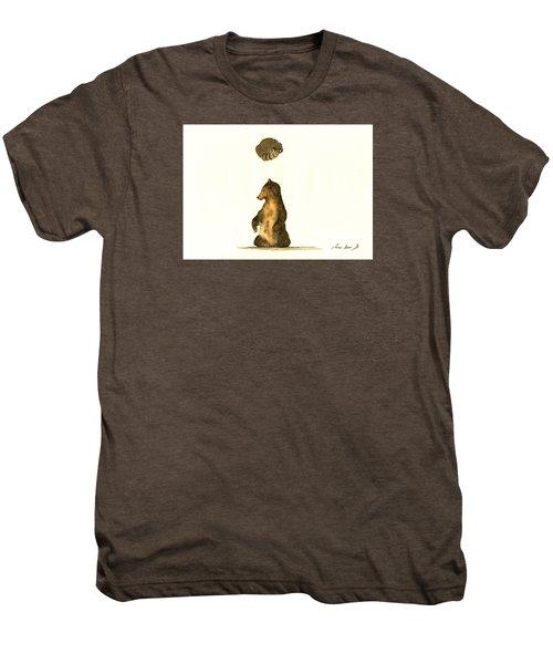 Woodland Letter I Men's Premium T-Shirt by Juan  Bosco