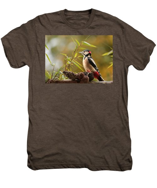 Woodpecker 3 Men's Premium T-Shirt by Heike Hultsch