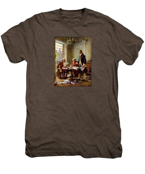 Writing The Declaration Of Independence Men's Premium T-Shirt