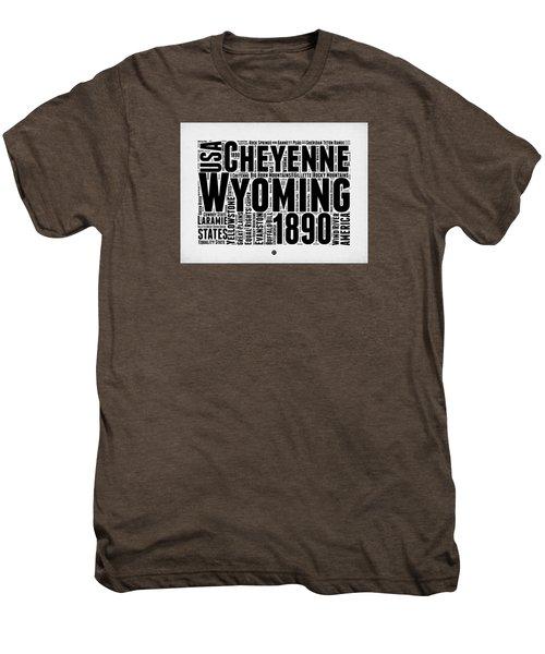 Wyoming Word Cloud Map 2 Men's Premium T-Shirt