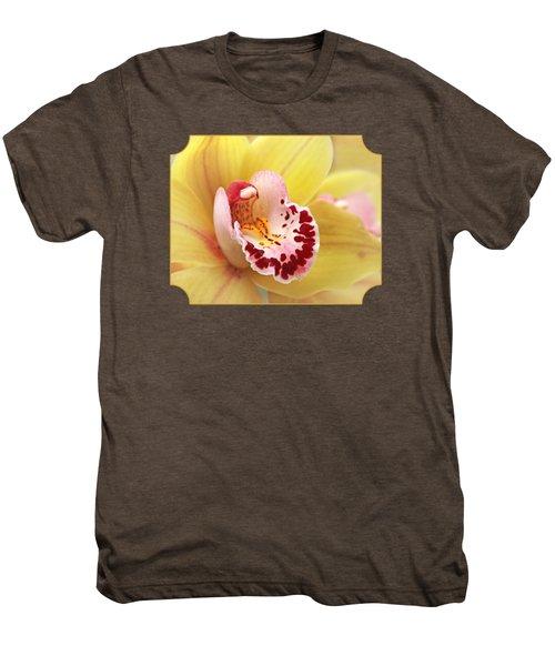 Yellow Cymbidium Orchid Men's Premium T-Shirt