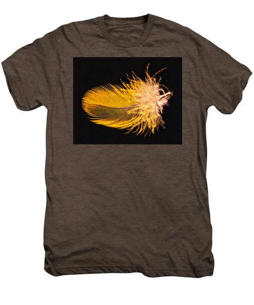 Yellow Feather Macro Men's Premium T-Shirt