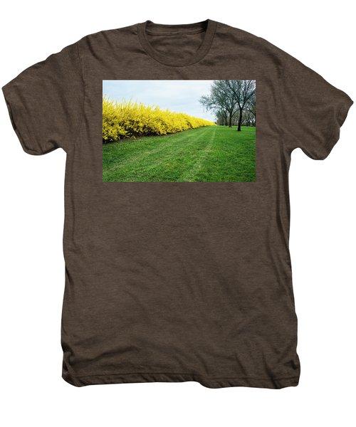Yellow Flowers Men's Premium T-Shirt