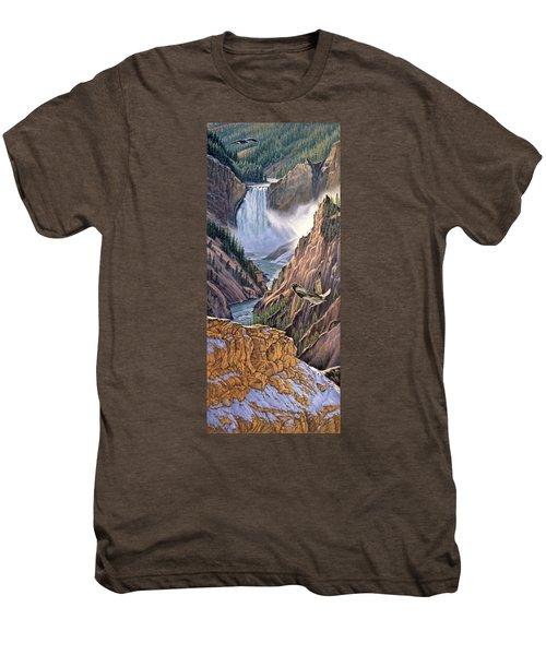 Yellowstone Canyon-osprey Men's Premium T-Shirt