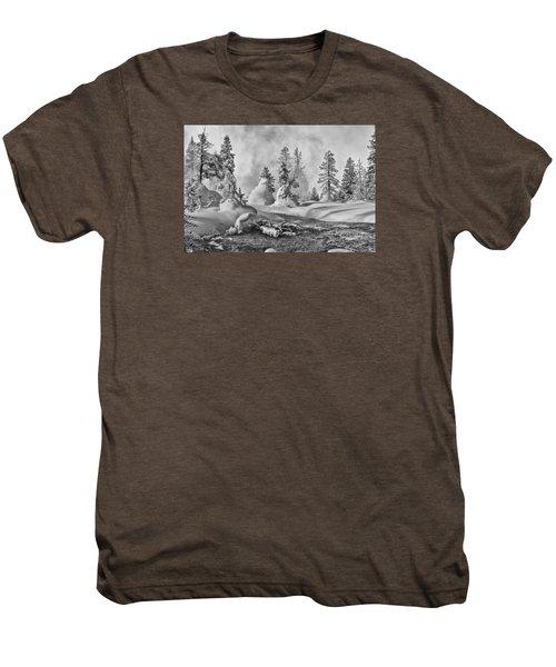 Yellowstone In Winter Men's Premium T-Shirt