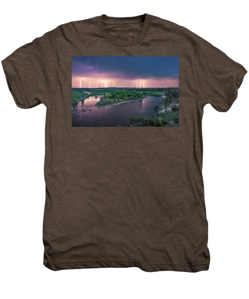 Yellowstone River Lightning Men's Premium T-Shirt