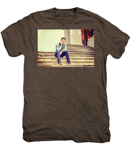 Young College Student 15042515 Men's Premium T-Shirt