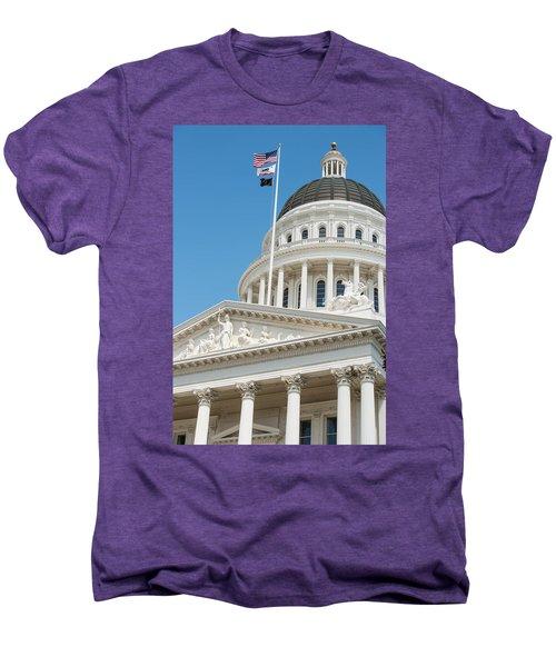 California State Capitol In Sacramento Men's Premium T-Shirt