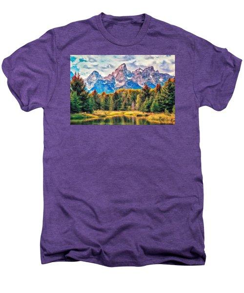 Autumn In The Tetons Men's Premium T-Shirt