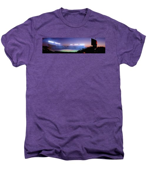 Baseball, Cubs, Chicago, Illinois, Usa Men's Premium T-Shirt by Panoramic Images