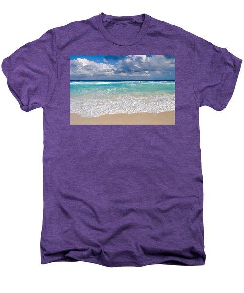 Beautiful Beach Ocean In Cancun Mexico Men's Premium T-Shirt