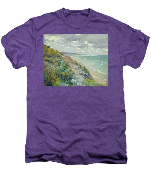 Cliffs By The Sea At Trouville  Men's Premium T-Shirt