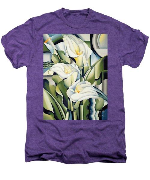 Cubist Lilies Men's Premium T-Shirt