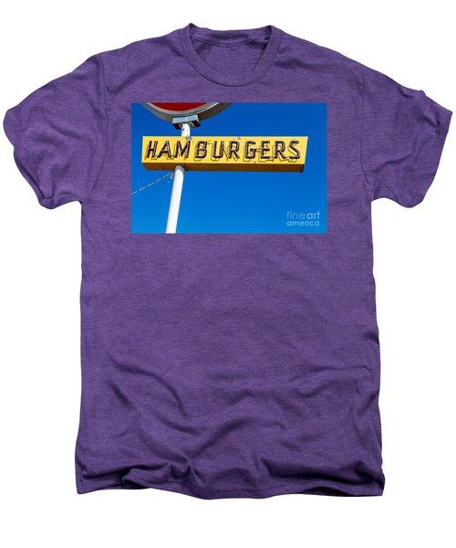 Hamburgers Old Neon Sign Men's Premium T-Shirt