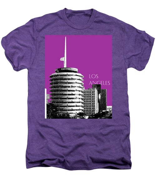Los Angeles Skyline Capitol Records - Plum Men's Premium T-Shirt