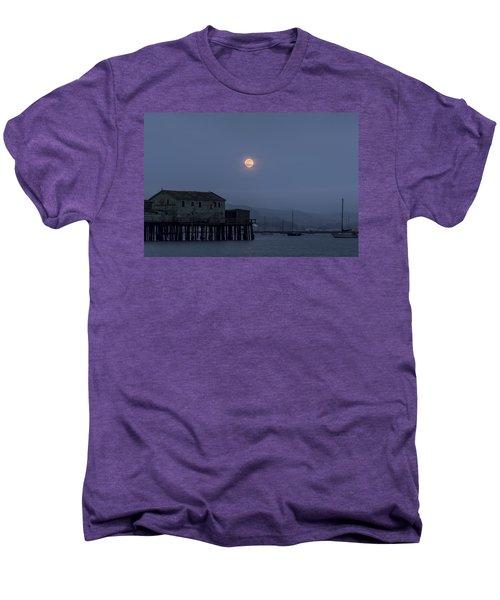 Moonrise Over The Harbor Men's Premium T-Shirt